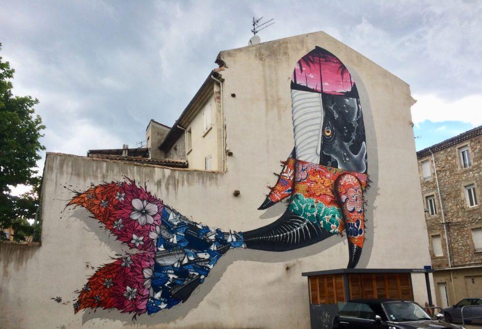 Baleine par 1sekte à Besseges (Gard). Crédits : MIAOU